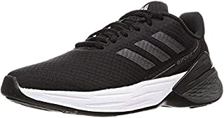 Adidas Response SR Mesh-Textile Side-Logo Lace-up Running Athletic Shoes for Women - Core Black, 36 2/3