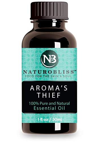 NaturoBliss Aroma's Thief Immunity Synergy Blend Health Shield Germ Fighter Aromatherapy Essential Oils Blend (Cassia Clove Rosemary Eucalyptus Lemon) Tales French Thieves (1 Pack) 30ml