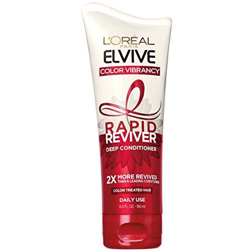 L'Oreal Paris Elvive Color Vibrancy Rapid Reviver Deep Conditioner, Repairs Damaged Color-Treated Hair, No Leave-In Time, with Damage Repairing Serum and Antioxidants, 6 oz.