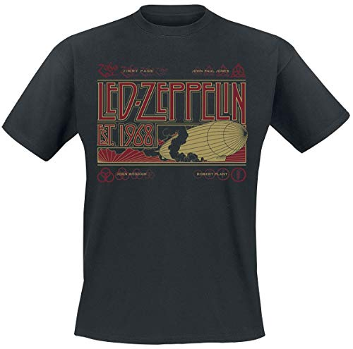 Led Zeppelin Zeppelin & Smoke Männer T-Shirt schwarz L 100% Baumwolle Band-Merch, Bands