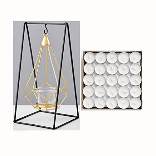Candlestick Decoración Aromaterapia Vela Romántica Mesa de comedor Luz Luz de Lujo Cena Cena Casa Inicio Decoración de escritorio interior (Shape : Triangular prism)