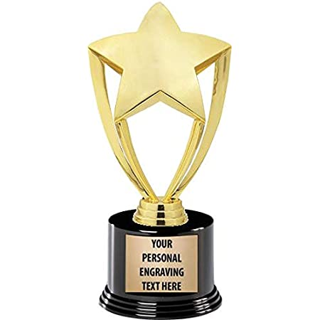 11 Inch Gold Star Trophies Star Trophy with Customized Engraving and Perfect for Employee Recognition Trophies and Awards Prime