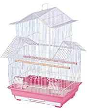 """Jainsons Pet Products Hut Shape Bird Cage Best for Lovebird/Pet, Parrot, Parakeet, Budgie, Cockatiel Cage Hammock Large Bird Cage (Size: 18"""" Long, 14"""" Wide and 27.5"""" Height) Color May Vary"""