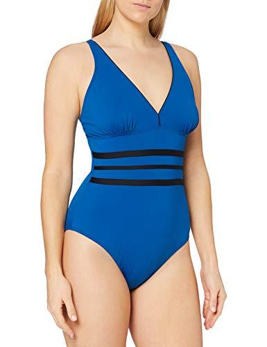 Haute Pression Damen N1013 Badeanzug, schwarz/blau, 34
