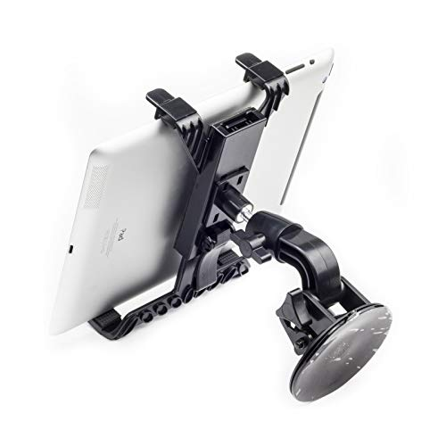 Digicharge Car Tablet Mount W/ 360 Degrees Adjustable Bracket Strong Suction Cup Windshield Dashboard Holder Car Mount for 8' - 12' Tablets For iPad Air Samsung Galaxy Tab Amazon Fire HD Huawei etc.