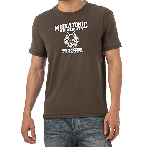 Texlab Herren Miskatonic University T-Shirt, Braun, S
