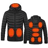 Veste chauffante électrique pour homme et femme - Chargement USB - Pour sports de plein air, équitation, vélo et moto - Pas de batterie externe, noir, 4XL