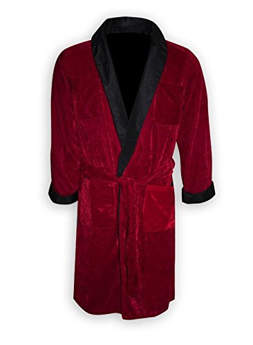 Playboy Smoking Jacke/Kostüm Hugh HEFNER mit Gürtel & Pfeiffe (XL)