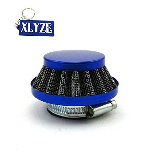 Xlyze Filtre à air Bleu 35 mm Pour Pit Dirt Bike Yamaha DT80 RD80 RD125 RD200 Aerox Breeze BWS