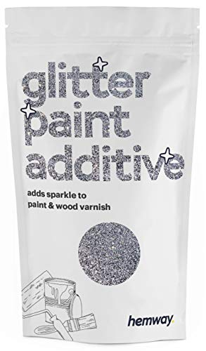 Hemway Glitzerlackzusatz Mischfarben auf Wasserbasis für Wand Decke - 100g - Silber