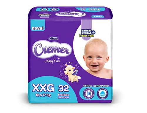 Fralda Cremer , XXG, Mega, pacote de 32 (Embalagem pode variar)