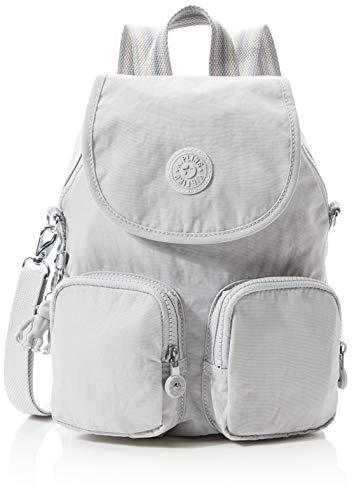 Kipling Firefly Up Women's Backpack, Grey (Curiosity Grey), 22x31x14 Centimeters (B x H x T)