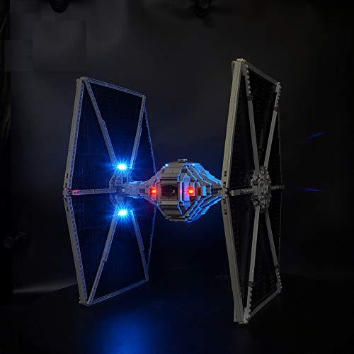 LODIY Beleuchtung Lichtset für Lego Star Wars 75095 TIE Fighter, LED Beleuchtungsset Kompatibel mit Lego 75095 (Nicht Enthalten Lego Modell)