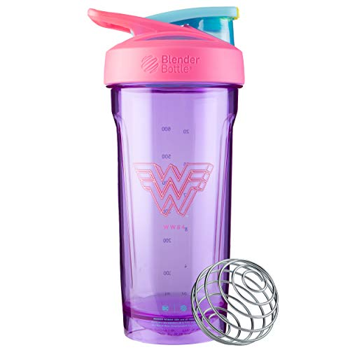 BlenderBottle Justice League Strada Shaker Cup Perfect for Protein Shakes and Pre Workout, 28-Ounce, Wonder Woman WW84