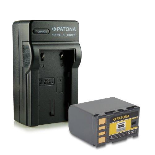 PATONA 4en1 Cargador + Batería BN-VF823 / JVC BN-VF823U para JVC GR-D720 | GR-D860 | GY-HM100 | GZ-HD7 | GZ-HD300 | GZ-MG530 | GZ-MG840 | GZ-MS130