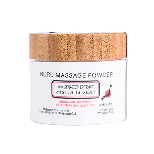Massage Gel Powder 40g - Makes 4L/ 135.25 Ounce with Seaweed Extract and Green Tea Extract Made In Japan Paraben and Glycerine Free