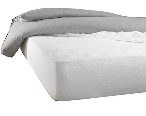 De Witte Lietaer Protector de colchón Skin160 x 200/210 cm h40 Tencel PU blanco