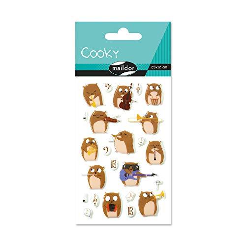 Maildor CY064O Packung mit Stickers Cooky 3D (1 Bogen, 7,5 x 12 cm, ideal zum Dekorieren, Sammeln oder Verschenken, Hamsters) 1 Pack