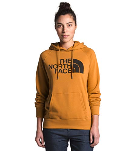 The North Face Women's Half Dome Pullover Hoodie, Citrine Yellow/TNF Black, S