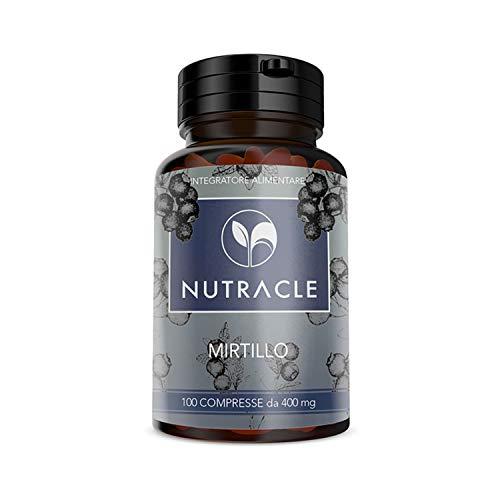 NUTRACLE, Arándanos Negro 400mg 100 Tabletas. Antioxidante Ayuda a la Microcirculación y a la Salud de los Ojos, Rico en Vitaminas y Nutrientes
