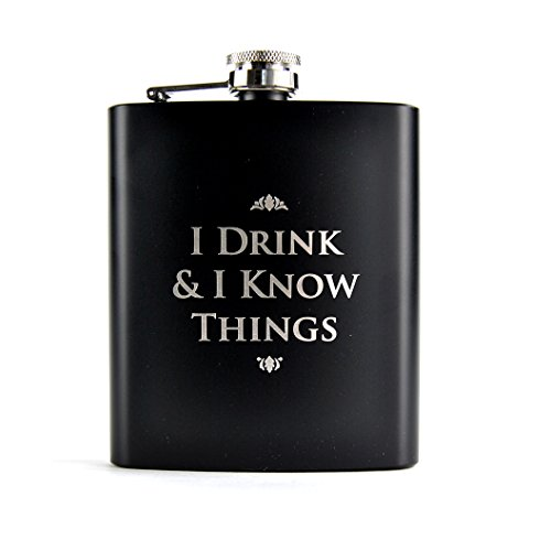 Game of Thrones Z885790 Flachmann I Drink & I Know Things, Mehrfarbig