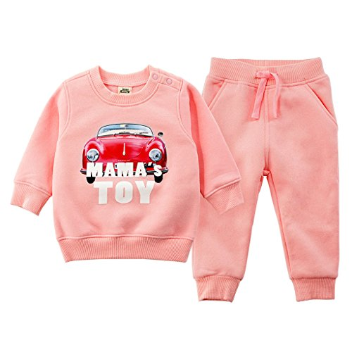 JiAym JiAym Baby Kinder Sweatshirt + Hose Set - 2pcs Bekleidungssets Dick Sport Anzüge Unisex Trainingsanzüge 100