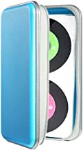 UENTIP 96 Capacity CD Case,Portable DVD Hard Plastic Case Holder CD Organizer Wallet Protective DVD Storage (96, SkyBlue)