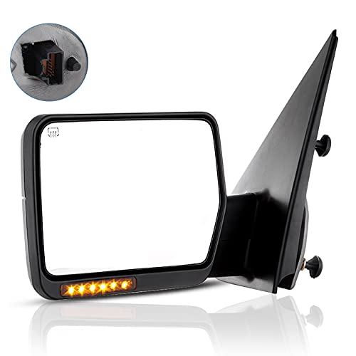 ECCPP Driver Side View Mirror Power Heated LED Turn Signal Lights Replacement...