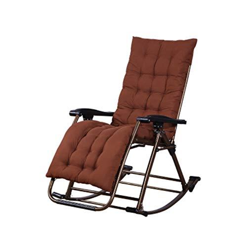 Klapp Schaukelstuhl Schwerelosigkeit Recliner Geeignet für Veranda Garten Deck Rasen Camping Tragbaren Stuhl,Brown