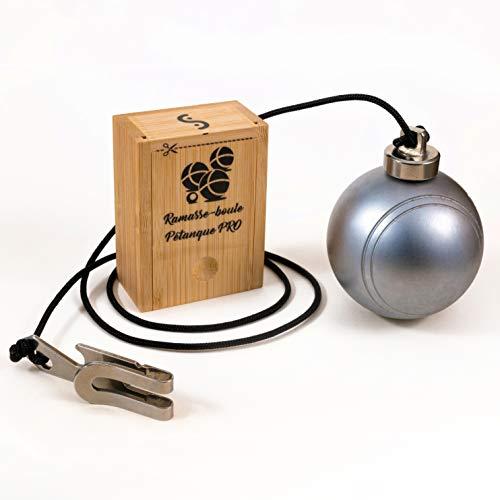 L'intention qui compte Ramasse Boule de pétanque Pro compétition magnétique- Aimant néodyme usiné Longueur réglable 90cm avec Pince d'attache et décapsuleur