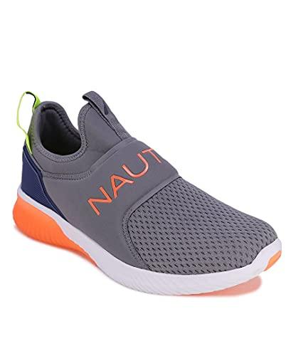 Nautica Men's Casual Fashion Sneakers-Walking Shoes-Lightweight Joggers-Coaster-Charcoal-7.5
