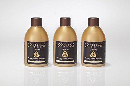 Cocochoco Professional - Gold 8.4oz with 24k Liquid Gold - New Improved Formula 3 Pack Special Offer (25.2oz total) by COCOCHOCO
