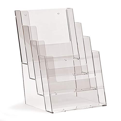 18 Stück taymar DIN A5 Prospektständer mit 4 Etagen, transparent
