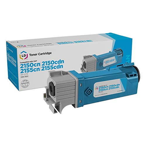 LD Compatible Toner Cartridge Replacements for Dell 331-0716 THKJ8 High Yield (Cyan)