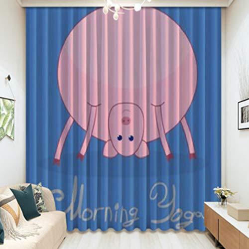 Vorhang Moderne Hauptdekoration Schlafzimmer Studie Kinderzimmer Erker Französisch Fenster Persönlichkeit Kreative Einfache Cartoon Niedlichen Haustier Schwein