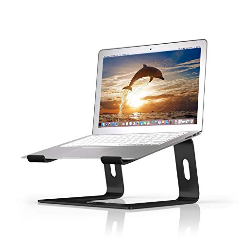 BoYata Laptop Stand: Dismountable with Ventilation, Portable Notebook Stand Compatible with Laptop (10 inch ~ 15.9 inch) MacBook Pro/Air, HP, Dell, Lenovo, Samsung, Acer, HUAWEI MateBook (Black)