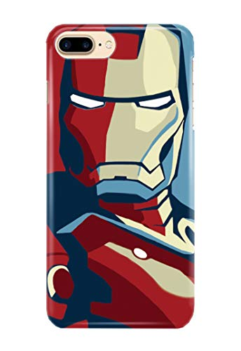 Hülle Me Up Handy Hülle für iPhone 8+ [Plus] Iron Man Tony Stark Superhero Marvel Comics 14 Designs