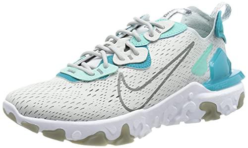 Nike Herren React Vision Laufschuh, Pure Platinum Smoke Grey Aquamarine, 40 EU