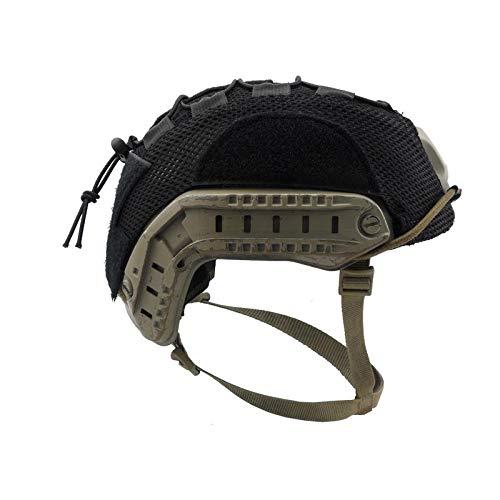 Armorwerx Multicam Mesh Helmet Cover for Ops-Core Fast Carbon Bump and XP Helmets (Black, Medium)