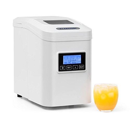 Klarstein Lannister - ijsblokjesmachine, ijsblokjesmachine, ijsblokjesmachine, 10 kg / 24 uur, 3 kubusgroottes, bereiding in 8-10 min, LCD-display, zelfreinigend programma, kijkvenster, wit