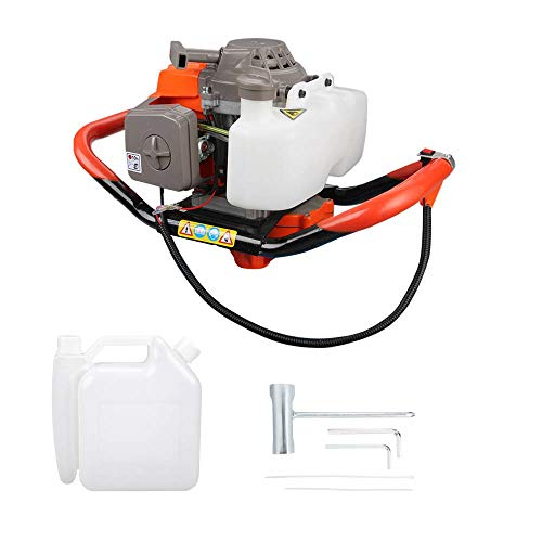 Anbull 48F Dually 1 or 2-Person Earth Auger Powerhead - 72cc 2-Cycle Viper Engine with Translucent Fuel Mixing Tank (72CC)