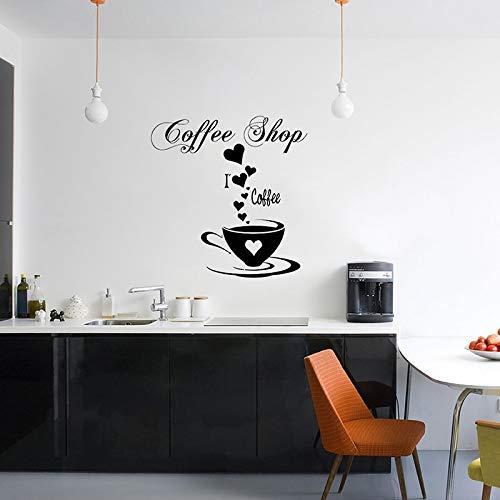 Koffie Vinyl Muursticker Decals Goede Koffie Vrienden Quote Cup Thee Keuken Woord Mural Kamer Ontwerp Slaapkamer Decoratie 42 * 42cm