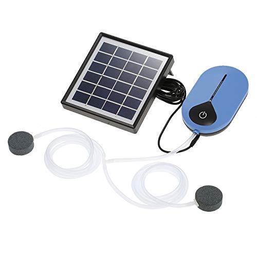 Decdeal Sauerstoffpumpe Luftpumpe Teichbelüfter solar 0,5 l/min bis 0,9 l/min 3.7V 3600mAh 18650 Lithium Akku Geräuscharm für Teich