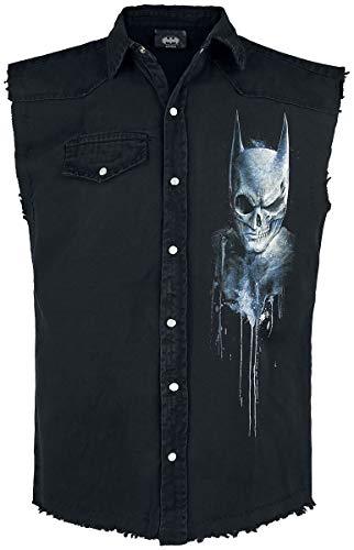 Batman Nocturnal Hombre Chaleco Negro XL, 100% algodón, Regular