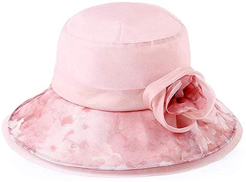 MGE Sun Hats Elegant Lady Sun Outdoor hoed Dame Zomer Zonnehoed Reizen Zonnebrandcrème UV Bescherming Zonnehoed afdrukken Bloem Pot hoed Vouwhoed