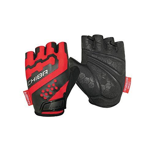 Chiba Professional II Fahrrad Handschuhe kurz rot/schwarz 2020: Größe: L (9)