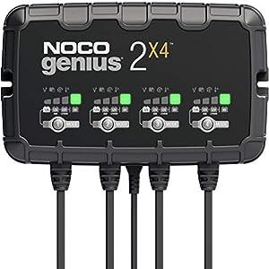 NOCO GENIUS2X4, Inteligente automático de 8A y 4 (2A por Banco), Cargador 6V y 12V, mantenedor desulfatador de batería…
