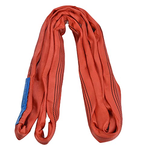 Rigging Accessories, Crane Lifting Strap Loop Lift 5T Load Bearing for Electric Power Engineering, Construction and Other Industries(4m (13.12ft))