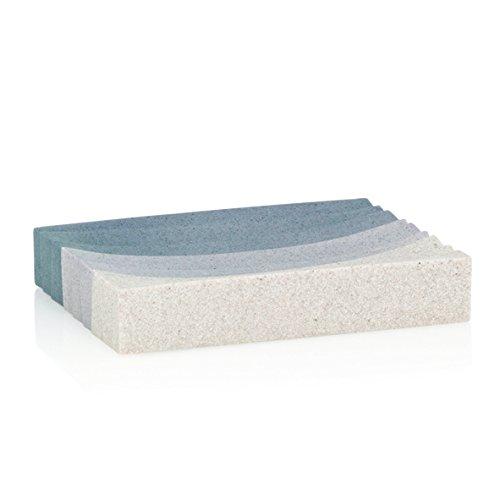 kela 22805 Porte-Savon Valura en Poly Beige/Marron, Plastique, 12 x 9 x 2 cm