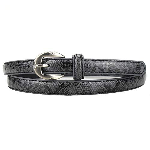 ZXMNSYD Bekleidung Accessoires Gürtel Luxus Schlangenleder Muster Gürtel Für Frauen Gürtel Party Kleid Gürtel Weiblichen Riemen